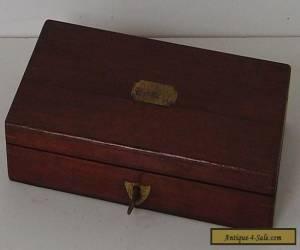 MAHOGANY BOX WITH KEY for Sale
