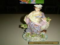 Antique large Derby porcelain figurine of the Roman Goddess Minerva.