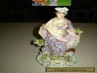 Antique large Derby porcelain figurine of the Roman Goddess Minerva.