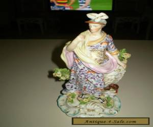 Antique large Derby porcelain figurine of the Roman Goddess Minerva.   for Sale