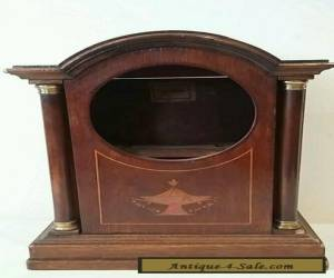 Edwardian Wooden Inlaid Clock Case  for Sale
