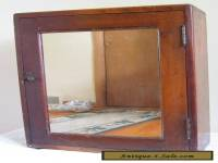 VINTAGE MEDICINE BATHROOM CABINET APOTHECARY MIRROR WOOD WALL TABLE ANTIQUE