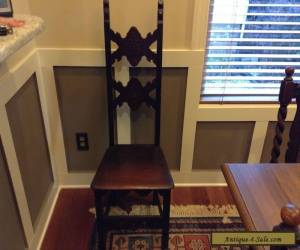 Antique Solid Wood Carved Narrow Back Hall Chair for Sale