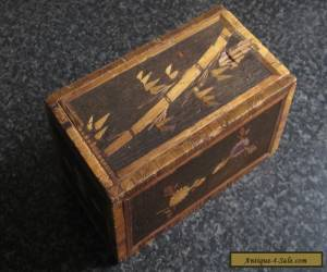 ANTIQUE SLIDE TOP BAMBOO INLAID WOODEN BOX.  S.E. ASIA. EARLY 1900'S  for Sale