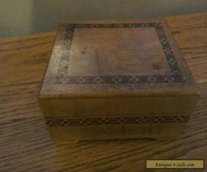 Small Pretty Wooden Box with Detail for Sale