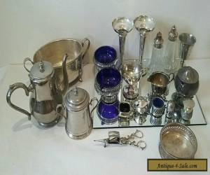 Job Lot Antique/Vintage Silver Plate. Please LOOK for Sale