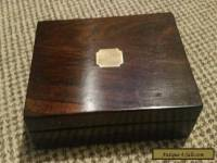 Beautiful antique wooden box with inlay