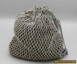 Stunning Art Deco Ladies Draw String Evening Bag Made Of Marcasite Circa 1930s for Sale