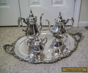 5 PC WALLACE BAROQUE TEA SET for Sale
