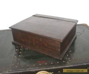 Vintage Oak bible or desk storage box for Sale