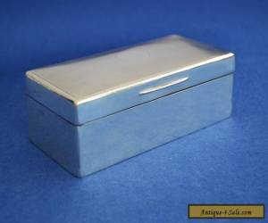 Large Solid Silver Cigar / Cigarette Box - London 1908 - Antique Sterling Cigars for Sale