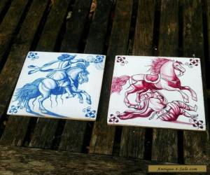 ANTIQUE STYLE HAND PAINTED TILES set for Sale