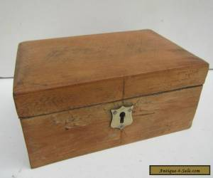 Old Solid Pine Stripped Jewellery Box for Sale