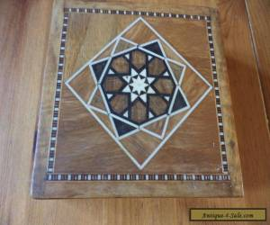 vintage  inlaid marquetry wooden box for Sale