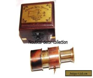Nautical Antique Brass Telescope With Wooden Box-Vintage Solid Gift Telescope for Sale