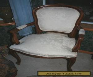Italian wooden antique chair Louis XV style for Sale
