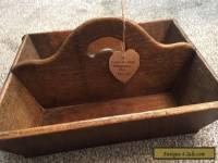 Victorian Antique Oak Housekeepers Box / Trug