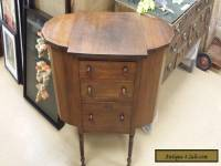 Vintage Antique Wood Martha Washington Sewing Cabinet Nightstand End Table