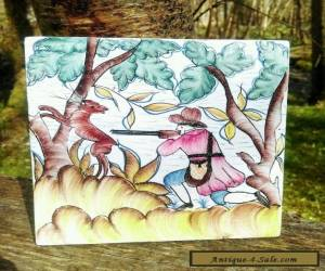 ANTIQUE STYLE Hunting scene HAND PAINTED TILES  for Sale