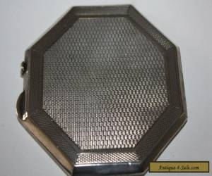 ART DECO SOLID SILVER COMPACT BIRM 1922 for Sale