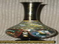 FINE JAPANESE CLOISONNE BOTTLE NECK STICK VASE