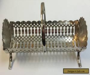 Vintage Superb Silver 1960's Silver Plated Cracker Holder Tray for Sale