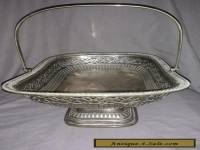 Antique Silver Plated Fruit Basket.