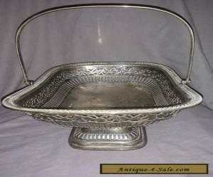 Antique Silver Plated Fruit Basket. for Sale