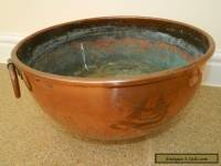 antique large French copper mixing  bowl arts and crafts
