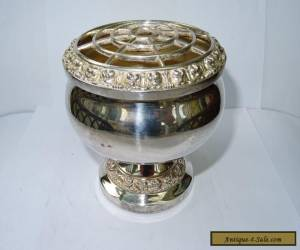 Vintage Silver Plated 'Ianthe' Medium Rose Bowl for Sale