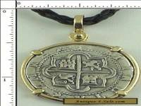 Atocha Coin Replica 2 Reale Cob Piece Of Eight Atocha 1622 Shipwreck Pendant