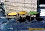 Vintage Lu Van stacking tables Guitar Pick mid century modern end/side table for Sale
