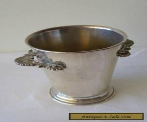 RARE! SMALL STUNNING ANTIQUE CRUSADER SILVERPLATE ICE BUCKET!  for Sale