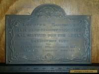 Antique metal bronze plaque great exhibition 1851 taxidermy.