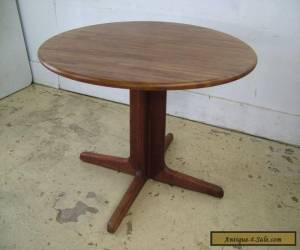 Vintage 60's Teak Dining Mid Century Danish Modern Round Dining Kitchen Table for Sale
