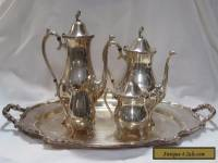 Rogers Brothers Reflection International Silver 5 Piece Coffee & Tea Set