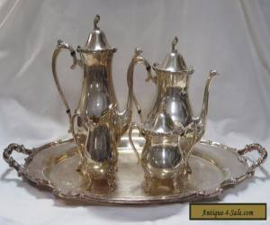 Rogers Brothers Reflection International Silver 5 Piece Coffee & Tea Set for Sale