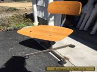 Vintage Kevi mid century modern Danish teak swivel desk chair