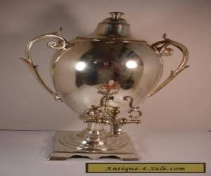 Vintage Silver Plate Samovar Coffee Tea Server URN for Sale