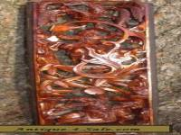 A CARVED AND PIERCED CHINESE STAINED RED WOOD 2nd HALF 20TH CENTURY VG CONDITON