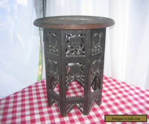 Antique Teakwood side table Hand Carved for Sale