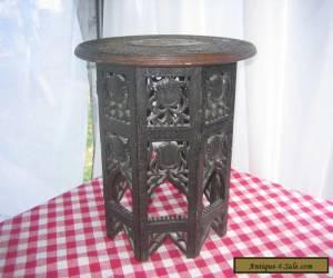 Antique Teakwood side table Hand Carved for Sale
