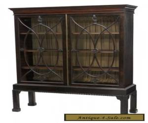 CHIPPENDALE STYLE MAHOGANY DISPLAY CABINET 19th c 1800s for Sale