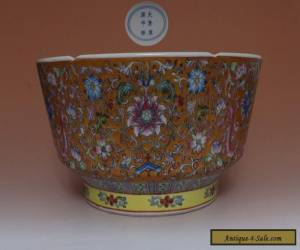 EXQUISITE LARGE CHINESE FAMILLE ROSE PORCELAIN BOWL KANG XI MARKED 25CM (L652) for Sale