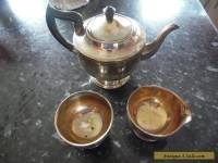 VINTAGE VINERS 3 PIECE SILVER PLATED TEA SET