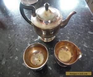 VINTAGE VINERS 3 PIECE SILVER PLATED TEA SET for Sale