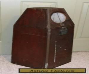 Antique Nautical Wooden Mahogany Binnacle Bronze Trim for Sale