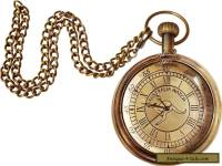 Antique Brass Australian Pocket Watch Vintage Nautical Clock With Chain Pandent
