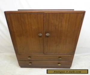 Antique Art Deco Mahogany Highboy Chest of Drawers Linen Press Dresser Tall Boy for Sale