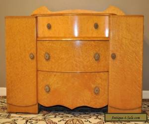 *VINTAGE ART DECO BIRDS EYE MAPLE DRESSER DRESSING TABLE, CHEST OF DRAWERS* for Sale